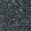 Seamless Technology Pattern - Stock Photo