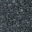 Seamless Technology Pattern — Stock Photo