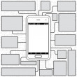Smartphone Blueprint or Guide Template — Stock Photo