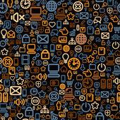 Conceptual Seamless Web Technology Pattern — Stock Photo