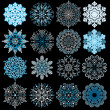 Colored Snowflakes - Stock Vector