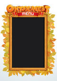 Oktoberfest Menu Vector. Template for Your Text — Stock Vector