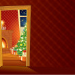 Festive Christmas interior — Stockfoto
