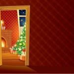 Festive Christmas interior — Stock Photo