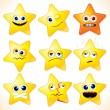 Funny Stars Emoticons - Stock Photo