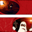 Illustrated Halloween Banners — 图库照片