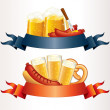 Festive Oktoberfest Banner, Header. Illustration — Stock Photo