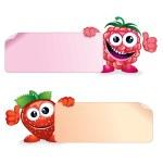 Raspberry with Strawberry — Stock Photo #24987651