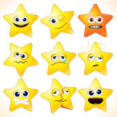 Funny Stars Emoticons — Stock Photo