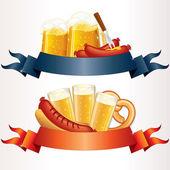 Festive Oktoberfest Banner, Header. Illustration — Stock Photo