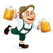 Wesoły facet pijany na oktoberfest — Zdjęcie stockowe