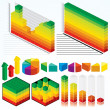 Isometric Graphs - Stock Photo