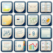 Icons with Paper Documents. Business Design — Stock Photo