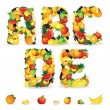 Colorful Letters from Fruit and Berries. Clip Art — Stock Photo #25269375