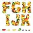 Colorful Letters from Fruit and Berries. Clip Art - Photo