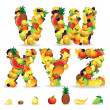 Colorful Letters from Fruit and Berries. Clip Art — Stock Photo #25269495