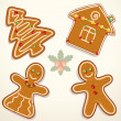 Gingerbread Cookie Illustration - Stock Photo