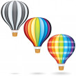 Flying Hot Air Balloons - Stock Photo