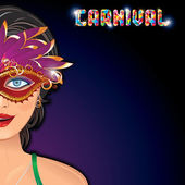 Beautiful Girl in a Carnival Mask. Image — Stock Photo