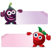 Cherry and Fig. Cartoon Illustration — Stock Photo