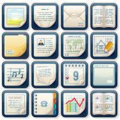 Pictogrammen met papierdocumenten. ontwerp zakelijk — Stockfoto