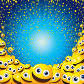 Smiley Background — 图库照片