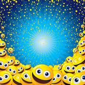 Fondo de Smiley — Foto de Stock