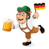 Funny Oktoberfest Man. Illustration — Stock Photo