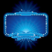 Blue luxury neon sign, image ready for your text — Stock Photo