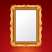 Gold Vintage Picture Frame. Illustration — Stock Photo
