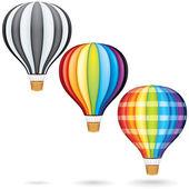 Fliegende heißluftballone — Stockfoto