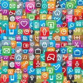 Achtergrond van een verschillende apps pictogrammen. — Stockfoto