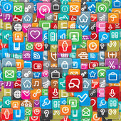 Background from a Different Apps Icons. — Stock Photo