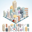Simply Isometric Buildings. - Stock Photo