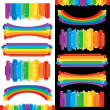 Stock Photo: Set of Rainbow Design Elements. Art Collection