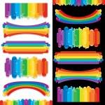 Set of Rainbow Design Elements. Art Collection — Stock Photo
