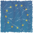 Grunge European Union Flag - Foto Stock