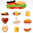 Oktoberfest Food and Drink Icons. Clip Art - Stock Photo