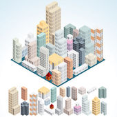 Simply Isometric Buildings. — Stockfoto