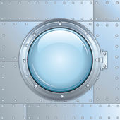 Illustration of Rocket Window or Ship Porthole. — Stock Photo