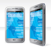 3D Illustration of Abstract Touchscreen Smartphone — Stock Photo