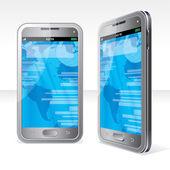 Ilustracja streszczenie ekran dotykowy smartphone — Zdjęcie stockowe