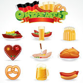 Oktoberfest Food and Drink Icons. Clip Art — Stock Photo