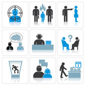 Management and Business Icons — Stock Vector