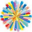 Retro Colorful Explosion — Stock Photo #26104003
