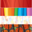 Stock Photo: Textile Banners