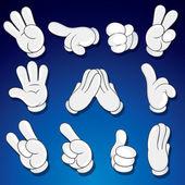 Comics Cartoon Hands, Gestures, Signs — Stock Photo