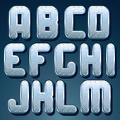 Zilver, stalen metalen lettertype. reeks van glanzende brieven — Stockfoto
