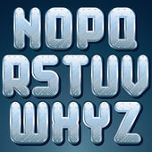 Silver, Steel Metallic Font. Set of Shiny Letters — Stock Photo