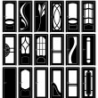 Collection of Interior Doors Silhouettes — Foto Stock